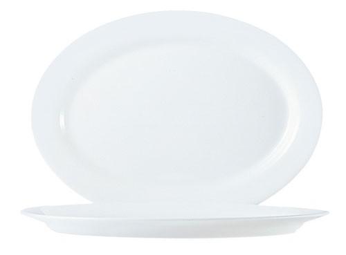 Platte oval 32 cm, Arcopal weiß