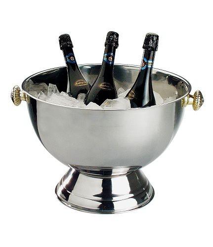 Champagner-Kühler, poliert, 42 cm, 20 Liter