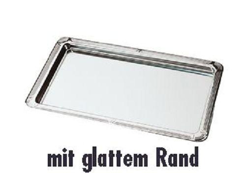 GN-Tablett 18/10 Edelstahl poliert, glatter Rand