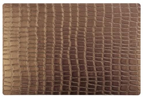 Tischset Kupfer Croco, 45x30 cm, Kunststoff