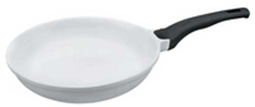 Lacor Alu-Pfanne 24 cm, Keramik White Ceram, induktionsfähig
