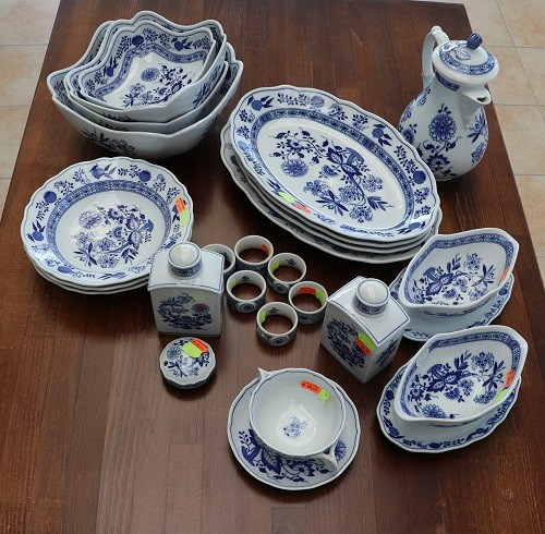 Maria Theresia Zwiebelmuster blau Set