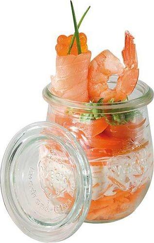 Weck Mini-Tulpenglas mit Deckel 220 ml, 12er Pack