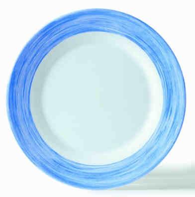 Brush blau, Teller flach 25,4 cm