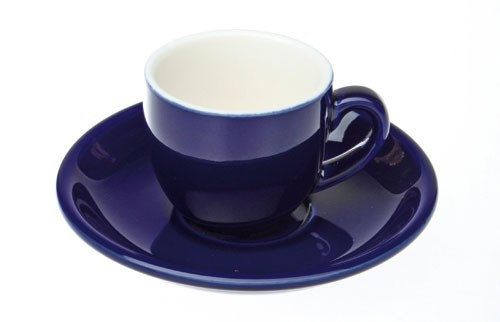 Colorado Kaffee Ober+/Untertasse, Blau, 4er
