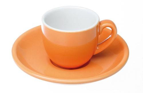 Colorado Kaffee Ober+/Untertasse, Orange, 4er