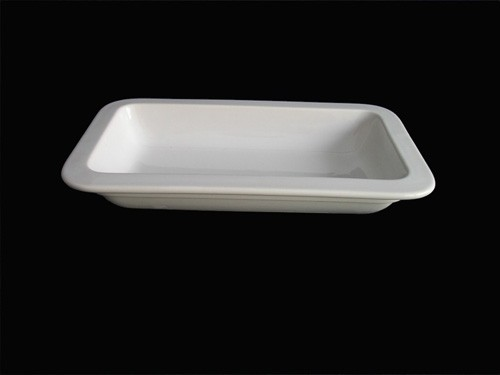 Porzellan GN-Schale 1/4-40 mm, weiß
