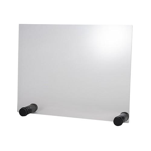 """Hygieneschutzwand """"ROUND BLACK"""" 75 cm H 57 cm"""