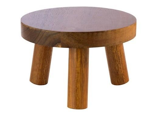 Buffetständer Ø 25 cm, H: 15 cm Akazienholz