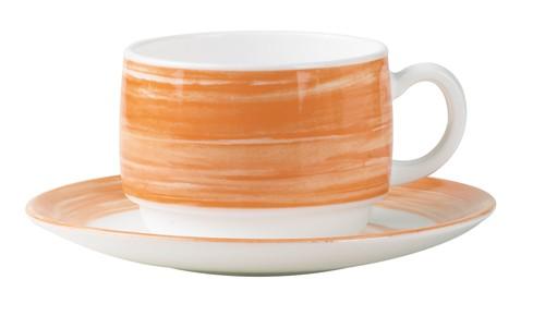 Brush orange, Untertasse 14 cm