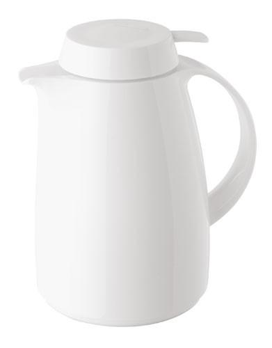 HELIOS Isolierkanne Servitherm 1,0 ltr. m. Drucktaste weiß