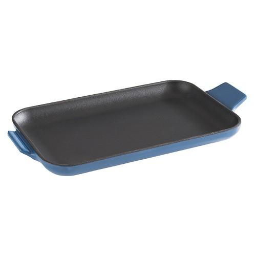 Servierpfännchen 20x13 cm schwarz/blau