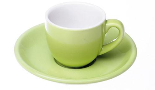 Colorado Kaffee Ober+/Untertasse, Grün, 4er