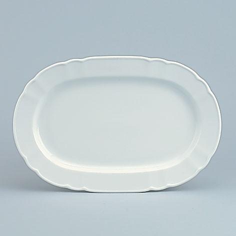 798/weiß Platte m. Fahne 38 cm (A)