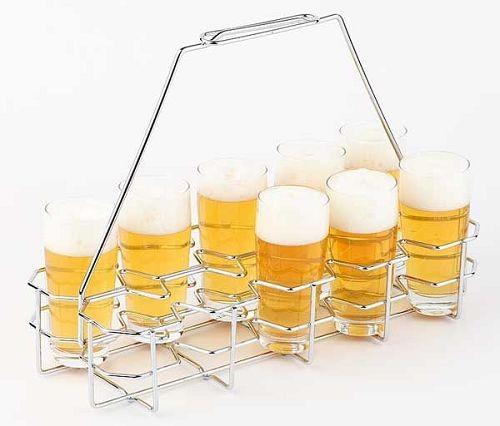 Bierglasträger für Glasgröße 0,2 - 0,3 Liter, für 10 Gläser