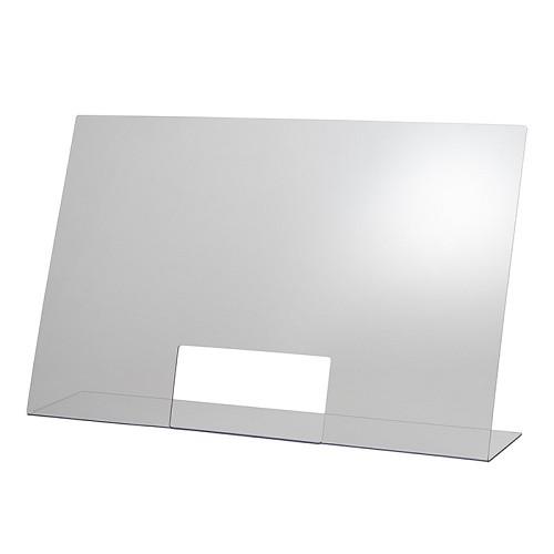 Hygieneschutzwand 75 x 18 cm H 48 cm
