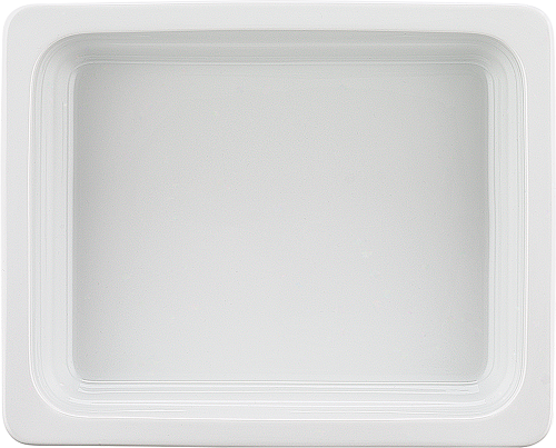 Porzellan GN-Schale 1/2-100 mm, weiß