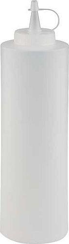 Quetschflasche PE, weiß/klar, 700 ml