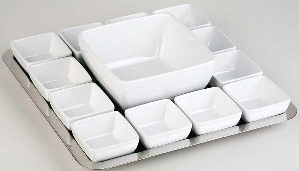 Schale Pure 12,5x12,5 cm, 0,4 ltr, weiß