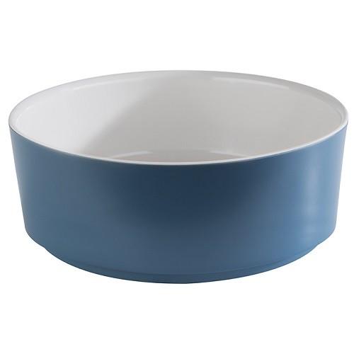 Schale -HAPPY BUFFET- 20 cm weiß/blau