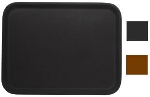 Tablett rechteckig rutschfest, braun 61x43 cm