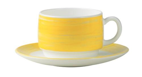 Brush gelb, Untertasse 14 cm