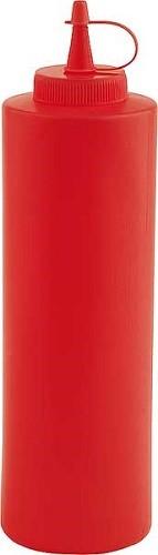 Quetschflasche Ø 6,5 cm, H: 25 cm, 0,65 Liter rot