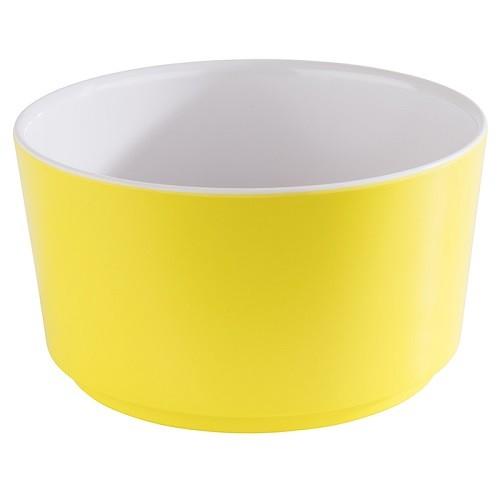 Schale -HAPPY BUFFET- 13 cm weiß/gelb