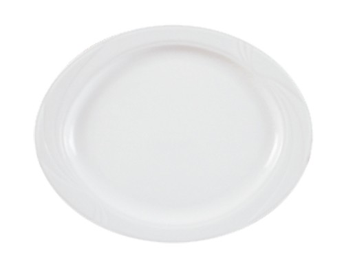 Arcadia weiß Platte oval 24 cm