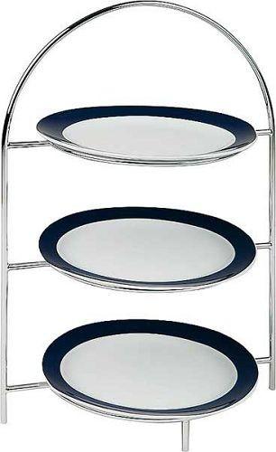 Serviergestell, Teller-Etagere für 3 Teller 44 cm hoch