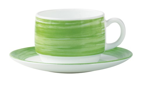Brush grün, Untertasse 14 cm