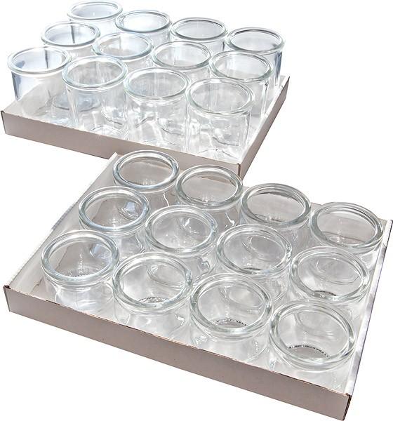 Gourmet-Gläser, 12er Set Ø 6 cm, H: 8 cm, 160 ml