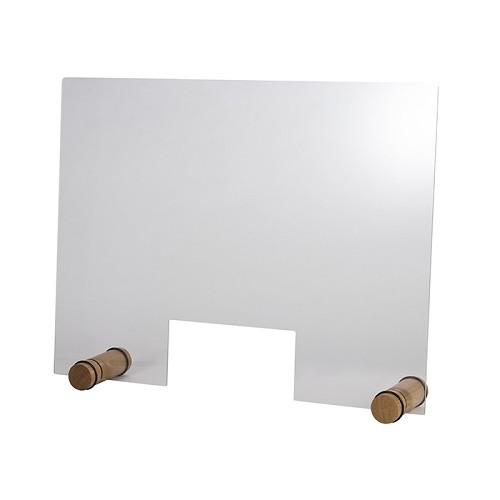 """Hygieneschutzwand """"ROUND OAK"""" 75 cm H 57 cm"""