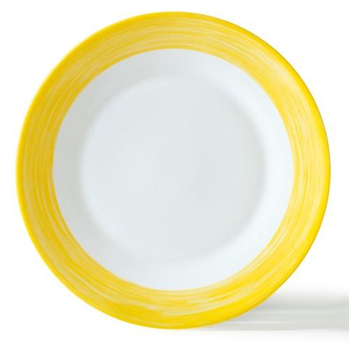 Brush gelb, Teller flach 15,5 cm