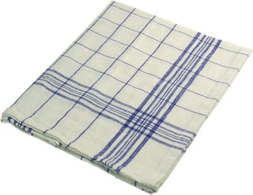 Geschirrtuch blau-weiß, 70x50 cm, 100% Baumwolle