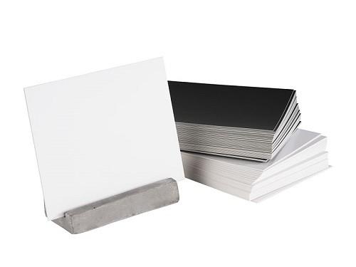 Kartenhalter, 2er Set 8 x 3,5 cm, H: 6 cm Beton