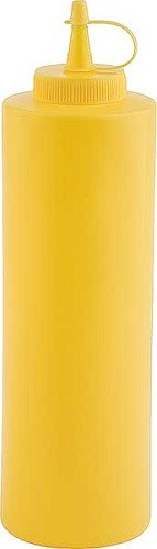 Quetschflasche Ø 6,5 cm, H: 25 cm, 0,65 Liter gelb