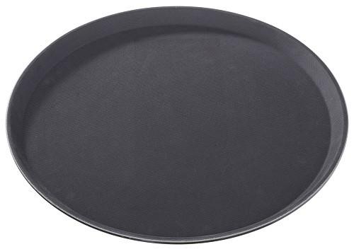 Grip Tablett rutschfest 35,5 cm rund, schwarz