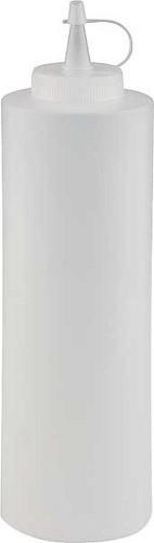 Quetschflasche Ø 6,5 cm, H: 25 cm, 0,65 Liter weiß