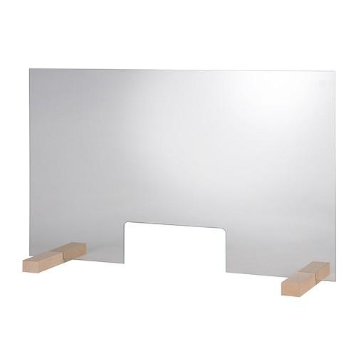 "Hygieneschutzwand ""GLAS"" 75 cm I H 47,5 cm, Tiefe 24 cm"